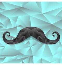 Black polygonal mustache vector
