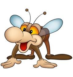 Brown housefly vector
