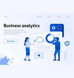 business analytics work optimization flat banner vector image