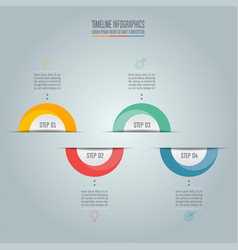 Business concept with 4 options steps vector