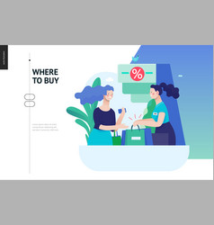 business series - where to buy web template vector image
