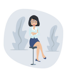 businesswoman sitting chair concept vector image