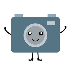 Camera photographic kawaii character vector