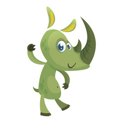 cartoon funny rhino character vector image