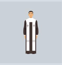 catholic clergyman representative of religious vector image