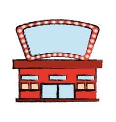 Cinema building cartoon vector