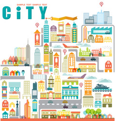 City map with building vector image