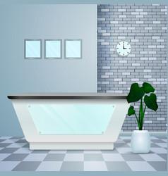 Clinic reception realistic modern interior vector