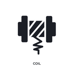 Coil isolated icon simple element from sew vector