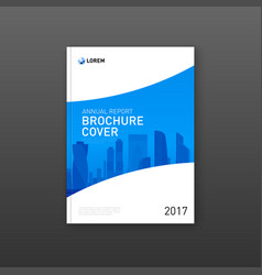 corporate brochure cover design template vector image