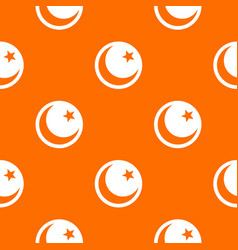 crescent and star pattern seamless vector image