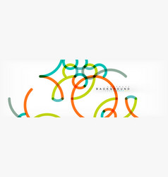 curly lines abstract background color overlapping vector image