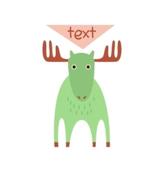 Cute deer with a sign for text vector image vector image