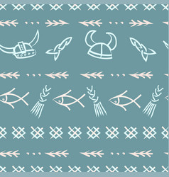 cute hand drawn seamless pattern in retro vector image