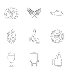 Delicacy icons set outline style vector