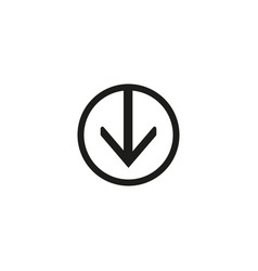 download icon simple flat symbol in circle vector image