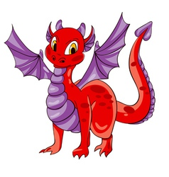 Dragon purple wings vector