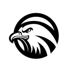 eagle logo black and white vector image