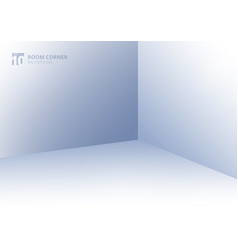 empty room interior corner view template blue vector image