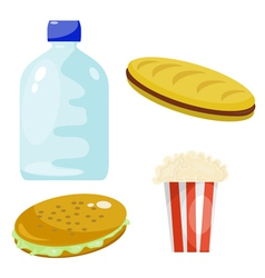 Fast Food Products vector image vector image