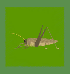 Flat shading style grasshopper vector