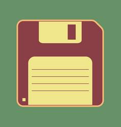 Floppy disk sign cordovan icon and mellow vector