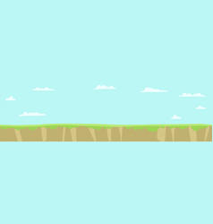 Game background for platformer empty path grass vector