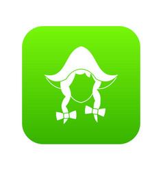 girl dutch icon digital green vector image