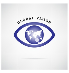 Global vision signeye iconsearch symbol vector