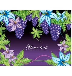 Grapevine floral background with text space vector