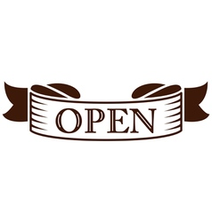 graphic vintage open on ribbon vector image
