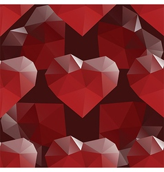 Heart diamond seamless pattern vector