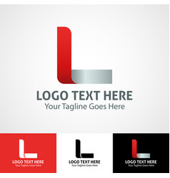 Hi-tech trendy initial icon logo l vector