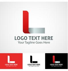 hi-tech trendy initial icon logo l vector image