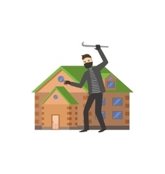 House And A Burglar vector image