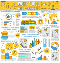 house repair and construction tools infographic vector image