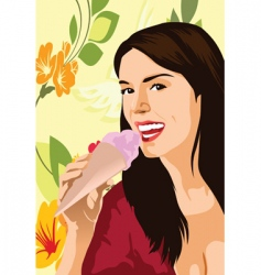 ice-cream advertising vector image
