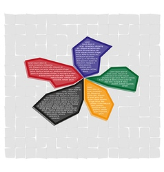 infographics - five fragment options vector image