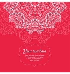 Invitation card with lace ornament 6 vector image