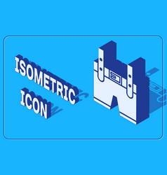 Isometric lederhosen icon isolated on blue vector