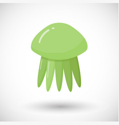 Jellyfish flat icon vector