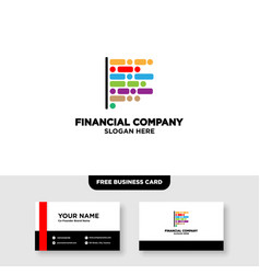 Letter f finance logo and card template vector