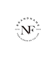 Letter nf logo design vector