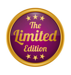 limited edition badge on white background vector image
