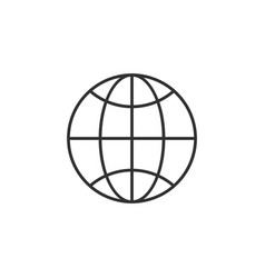 linear globe trendy flat world globe outline ui vector image