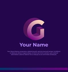 Logotype alphabet 3d logo letter g monogram logo vector