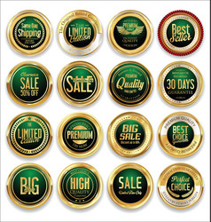 luxury retro badge and labels collection 05 vector image