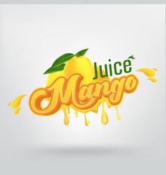 mango juice brand company logo design vector image