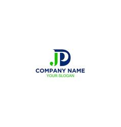 Monogram jpd logo design vector