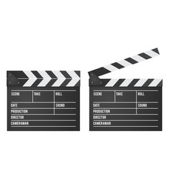 movie clapper slapstick board isolated on white vector image